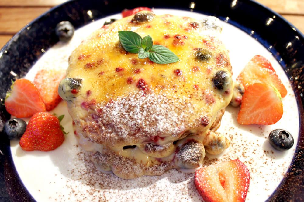 ブリュレベリーパンケーキ