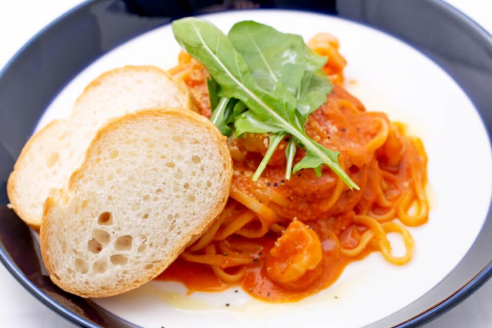エビのマリナラソース・スパゲティ