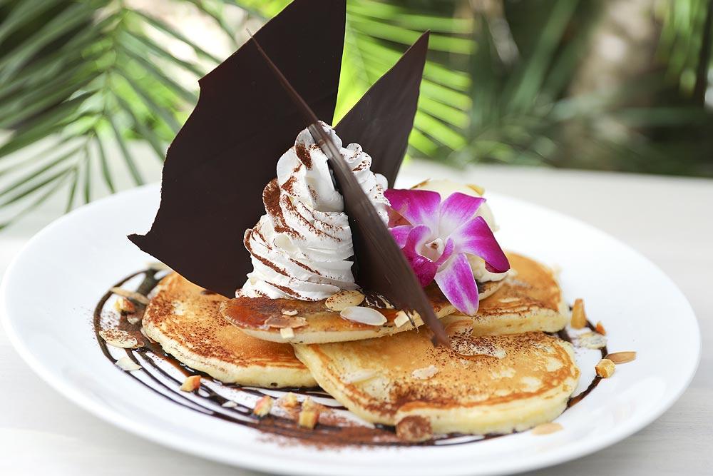 チョコバナナ&チーズクリームパンケーキ